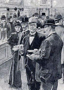 Aschinger, Berlino, pranzo a buffet, 1894