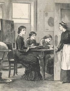 A Governess and her pupils, 1882