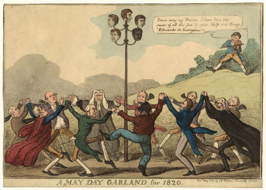 NPG D36701; A May Day Garland for 1820 published by Samuel William Fores
